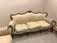 Antique baroque sofa with two armchair