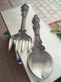 Metal fork and spoon decor piece Vaughan, L4L 7J4