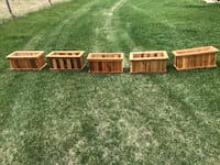 Hand crafted stained cedar planters- $50 each Edmonton, T6L 4P9