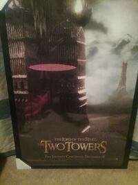 LOTR The Two Towers framed movie poster Manassas Park, 20111