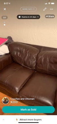 Real leather couches for $50  Toronto, M4P 1Y5