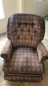 brown leather padded sofa chair 259 mi