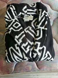 black and white zebra print zip-up jacket District Heights, 20747