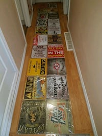 15x12 tin signs Cambridge, N1R 5Z9