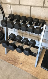 Dumbbells with stand   Brampton, L6W 1G6
