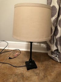 black and white table lamp null