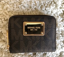 Brown & Gold Michael Kors Logo Wallet