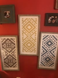three brown wooden framed wall decors Baton Rouge, 70806