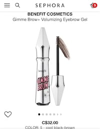 Brand new benefit gimme brow  Mississauga, L5E 1X7