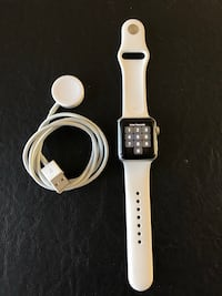 Silver aluminum case apple watch with white sports band Irmo, 29063