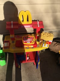 McDonald's toy with play food