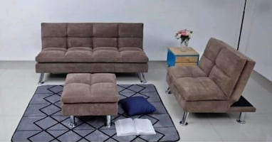 KLIK KLAK SOFA & CHAIR PLUS FREE OTTOMAN
