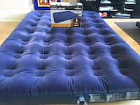 Milestone Camping Waterproof Unisex Outdoor Camping Air Bed available in Blue - Double + Air pump