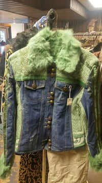 blue and green denim jacket Hamilton, L8P