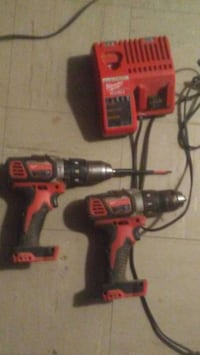 red and black Milwaukee cordless hand drill 538 km