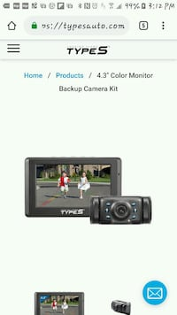 Type S backup camera with 4.3 in-dash monitor Toronto
