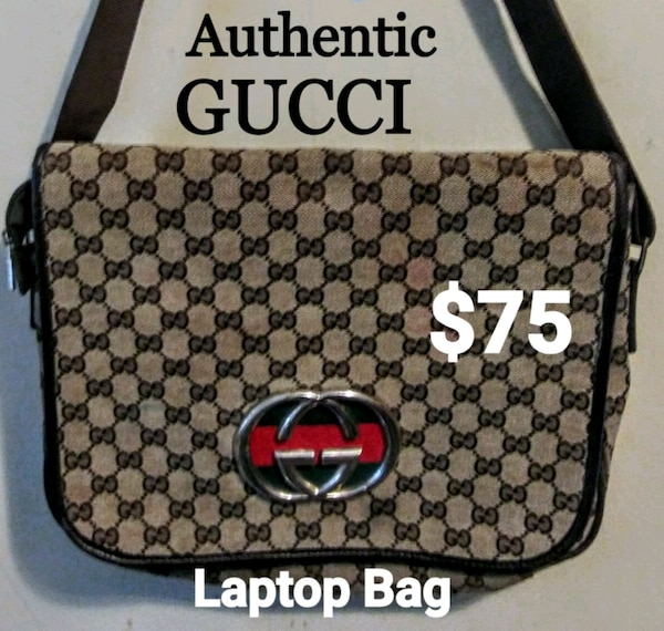 1a7306bb3f4 Used brown and black Gucci monogram backpack for sale in Rome - letgo