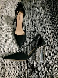 Clear wedge heels with pointed toe  511 km