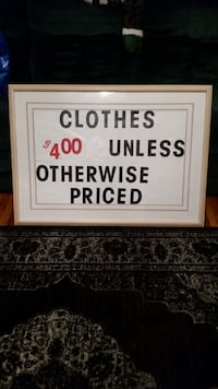 Clothes $4.00 each (unless otherwise priced)