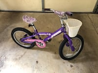 Kid's purple and white bicycle Mc Lean, 22101