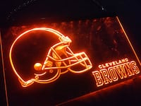 Cleveland Browns neon hanging sign Irving, 75062