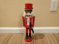 red and brown Nutcracker solider