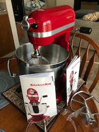 white and red KitchenAid stand mixer Happy Valley, 97086