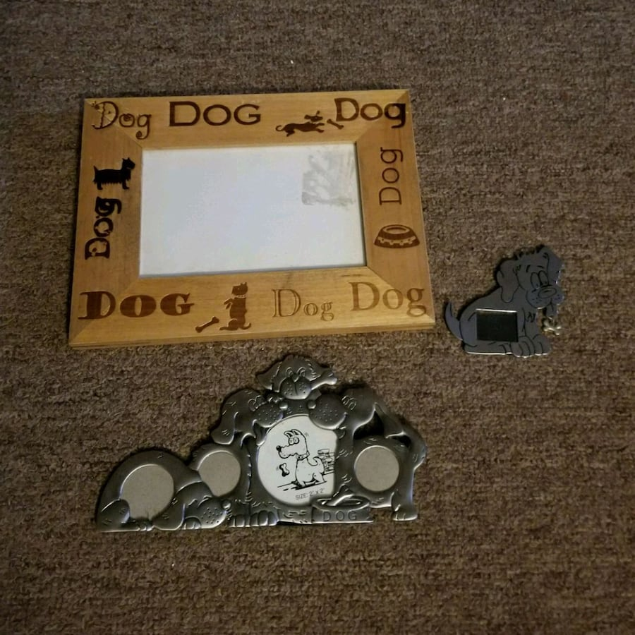 3 dog picture frame