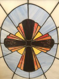 """Framed Stained Glass Window - 27""""x27"""" Oakland, 94610"""