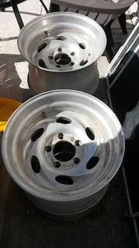 Alu rims for 16.5 tires. Possibly 5 on 5 and 1/2. 5 on 5-1/2 inch