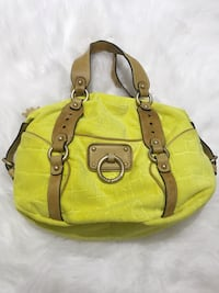 Juicy Couture bag in lime green/yellow with leather handles Winnipeg, R3P 1A4
