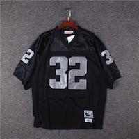 MITCHELL NFL THROWBACK 1984 ALLEN MESHED BLACK TEES JERSEY