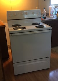 white and black electric coil range oven Hampstead, 28443