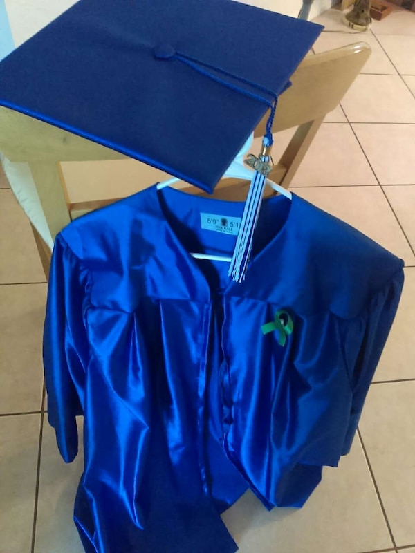 Used Broward College Cap and Gown: Blue, 5\'9-5\'11 for sale in Fort ...