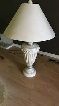 White and brown table lamp Edmonton, T5P 3Z3