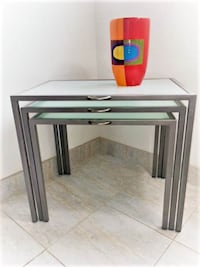 Crate & Barrel nesting tables MIAMIBEACH