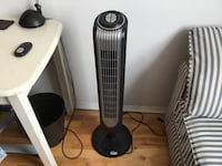Indoor tower fan and remote