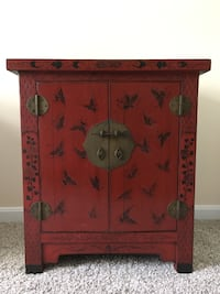 READ DESCRIPTION! Chinese Antiqued Accent Cabinet (Butterfly/Red) Annapolis