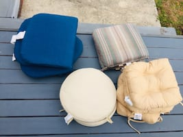 Variety of 16 chair cushions