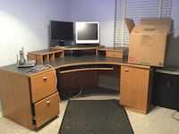 Corner desk with file cabinet.  Very good condition   Gainesville, 32608