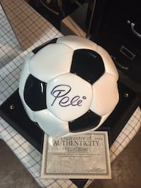Pele signed authentic Wilson soccer ball