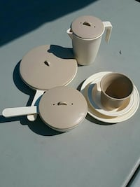white and gray dinnerware set Mission, V2V 3W6