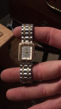 square silver-colored analog watch with link bracelet New Braunfels, 78130