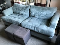 Suede leather sofa VANCOUVER