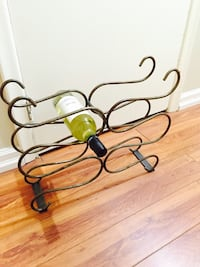 Brass metal wine bottle rack Toronto, M8V 2R3