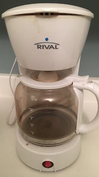 white Rival coffee maker