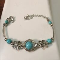Silver plated. Turquoise beet,S (Tibet )