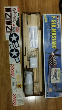 RC model airplane kit (Top Flite Gold Edition P-51D) plus extras