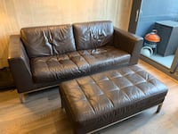 Leather Couch and Ottoman  Chicago, 60607