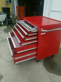 red and gray metal tool chest Downey, 90242